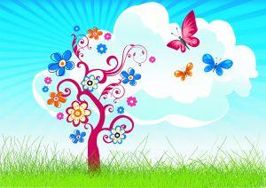 lente spreekbeurt boom vlinders